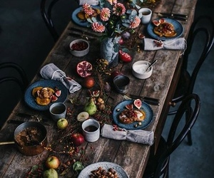 dinner, food, and table image