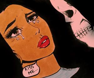 art, comic, and death image