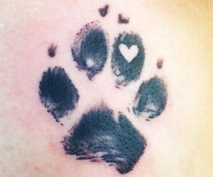 tattoo, heart, and footprint image