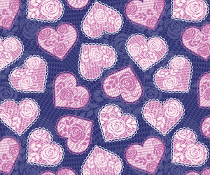 background, heart, and lace image