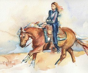 equine, western, and palomino image