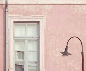 pink, window, and wall image
