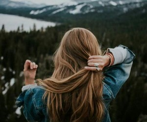 hair, travel, and nature image