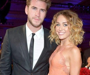 miley cyrus, liam hemsworth, and miam image