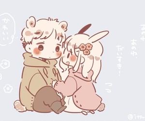 amor, couple, and kawaii image