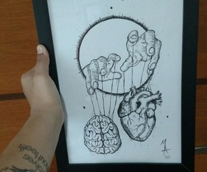 draw, hands, and heart image