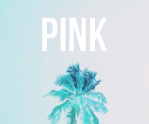 palm trees, pink, and wallpapers image