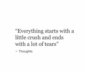 quote, crush, and tears image