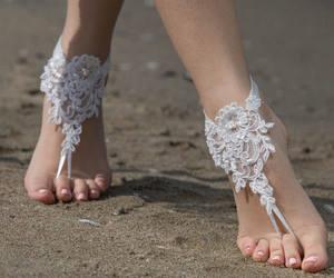 bohemian, wedding sandals, and bridal sandals image