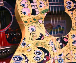 guitar, guitars, and spongebob image