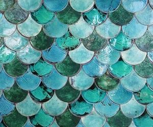blue, mermaid, and background image