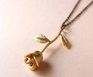 necklace, rose, and flower image