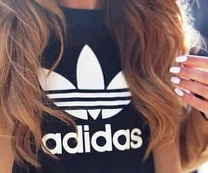 adidas, hair, and nails image