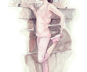 illustration, preppy, and watercolor image
