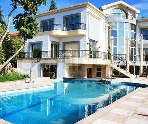 blue, house, and luxury image