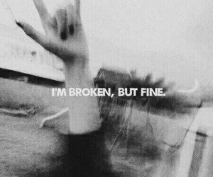 broken, memories, and fine image