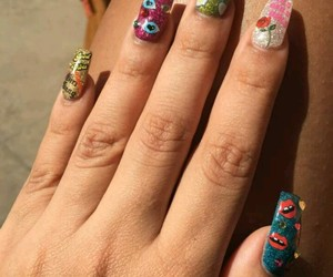 beautiful, hand, and nail art image