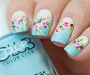 nails, spring, and beautiful image
