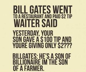 bill gates, quote, and funny image