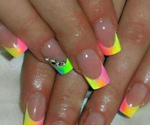 nails, nail art, and rainbow image