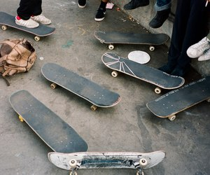 skateboard, skate, and skateboarding image