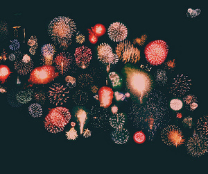 fireworks, light, and night image