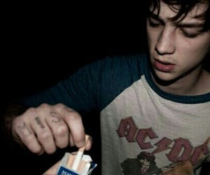boy, grunge, and cigarette image