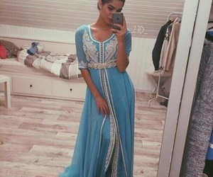 kaftan, arab, and beauty image