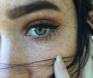 eyes, green eyes, and pretty girl image