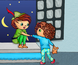 one direction, peter pan, and larry image