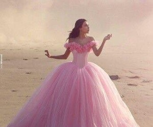 gown, dress, and pink image