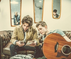 james mcvey, the vamps, and tristan evans image