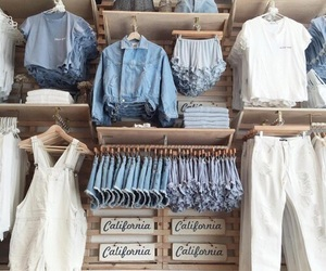 blue, denim, and style image