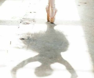 ballet, dance, and shadow image