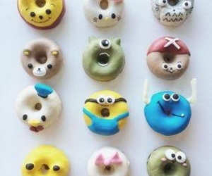 donuts, minion, and totoro image