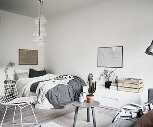 apartment, bedroom, and chic image