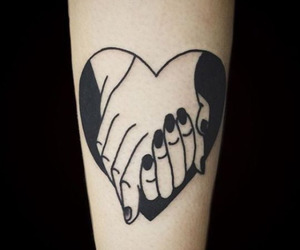 tattoo, heart, and hands image