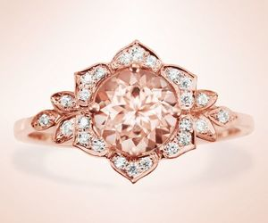 etsy, flower ring, and vintage rings image