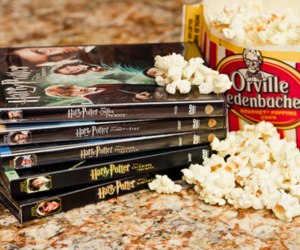 harry potter, popcorn, and movie image