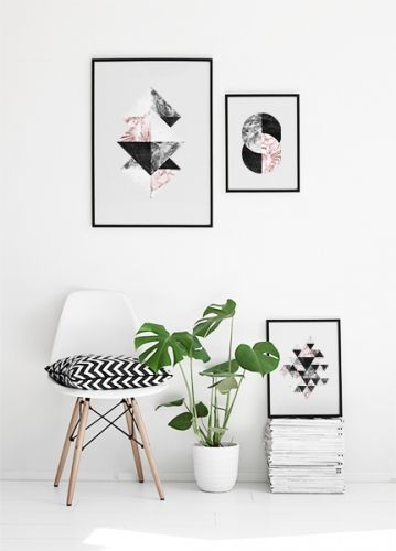 apartment, black and white, and art image