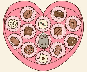pusheen, cute, and candy image