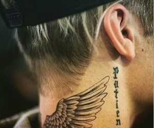 neck, perfection, and tatoos image