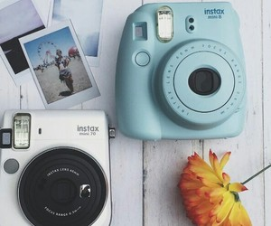 blue, camera, and instax mini 70 image