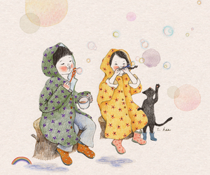 bubble, girl, and s.hee image