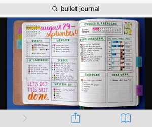 journal, organization, and planning image