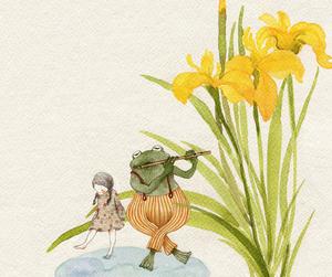 frog and girl image