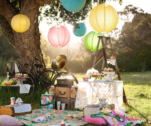 basket, pink, and gardenparty image