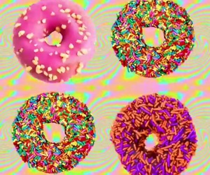 colorful, donut, and talkshit image