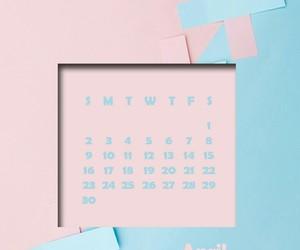 april, blue, and calendar image