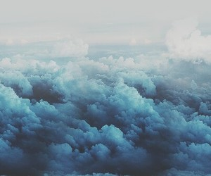 clouds, blue, and sky image